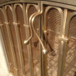Bronze Fire Doors - Handle Detail