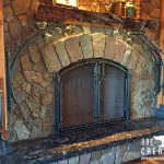 Fireplace with Kauri Mantle 1