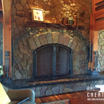 Fireplace with Kauri Mantle 2