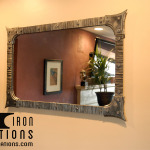 Mirror with Textured Frame
